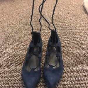 Ankle tie flats from Jeffrey Campbell